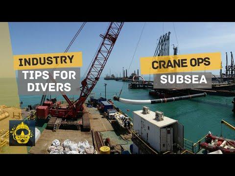 COMMERCIAL DIVING   CAREER TIPS   Offshore CRANE Operations Subsea + BONUS Footage of Crane Failure!