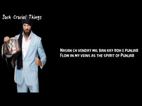 Jinder mahal | Theme Song Lyrics | English Translation From Punjabi