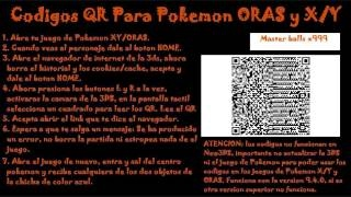 Pokemon Omega Ruby Codigos QR master ball, escama corazon,