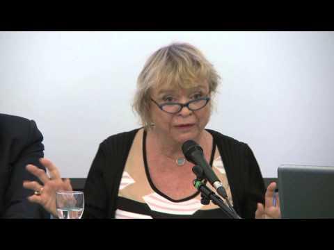Eva Joly at the ICRICT panel in Trento, Italy