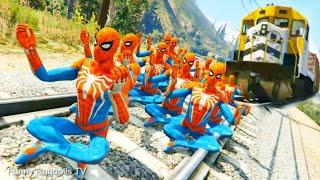 GTA 5 SPIDERMAN Water Ragdolls - Funny Moments & Fails Compilation (Euphoria Physics) Winmill Road