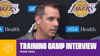 Frank Vogel: 'I credit our guys for gutting it out last night'   Lakers Training Camp 2019