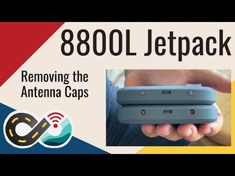 Removing the Antenna Caps from an 8800L Verizon Jetpack MiFi