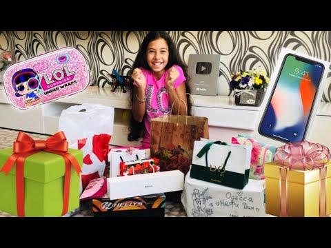 МОИ ПОДАРКИ на День Рождения 🎁 12 лет // Самые необычные подарки от Наша Маша и Iren May