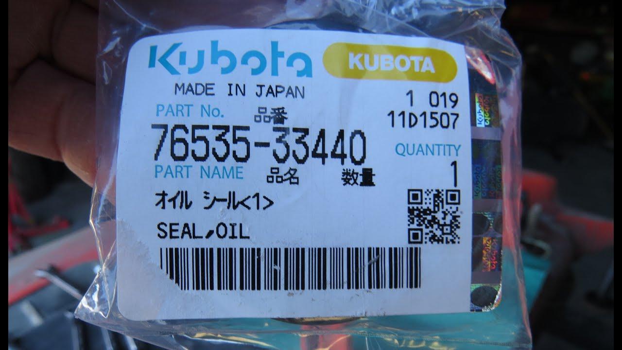 Replacing The Driveshaft Seal on a Kubota RCK60B 23BX Mower Deck