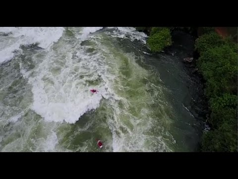 Nile River festival - Itanda Falls Head to Head from the Sky