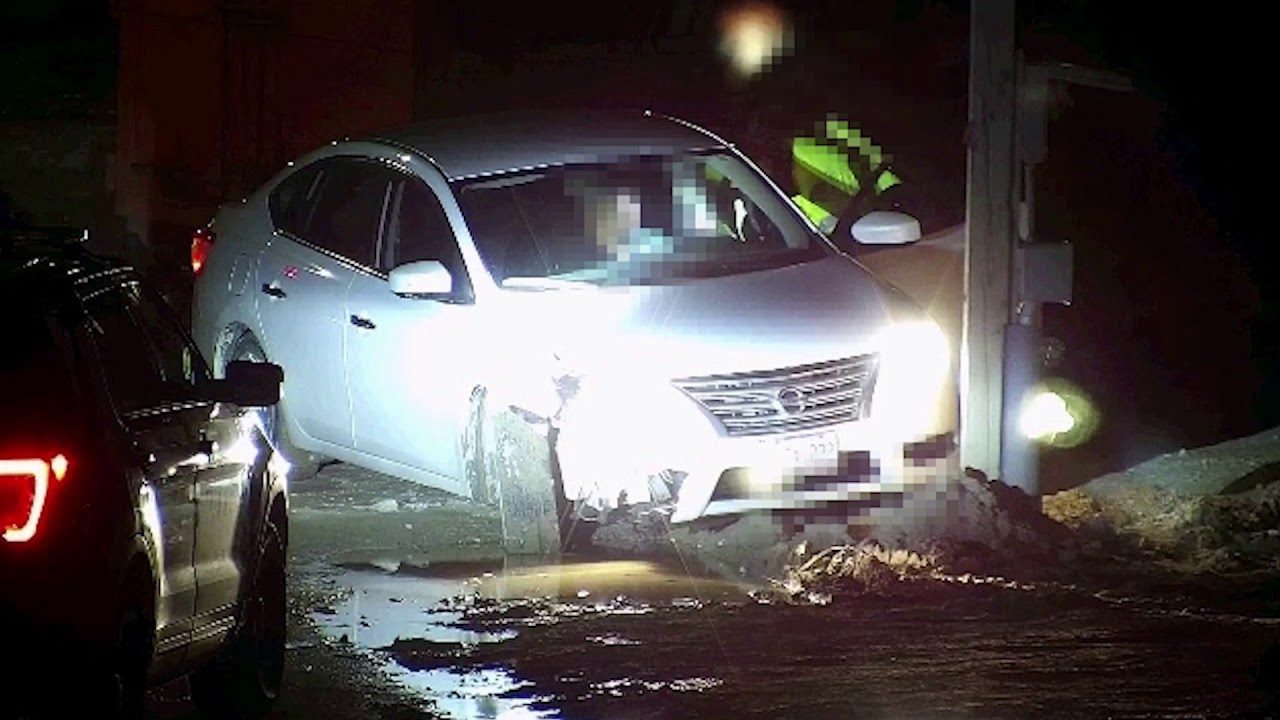 Inebriated Driver Crashed Twice at a Construction Site
