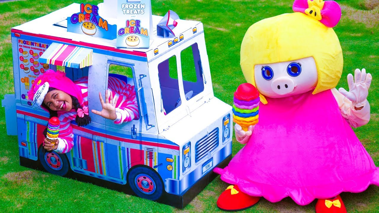 Johny Pretend Play with Ice Cream Cart Food Truck Toy