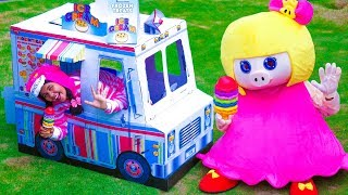 Linda Pretend Play with Ice Cream Cart Food Truck