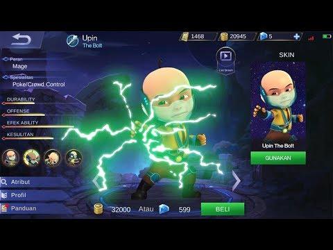 MANTAP! Edit Hero Upin Ipin Di Mobile Legends
