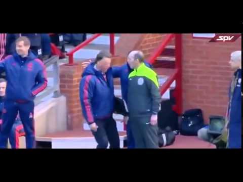 Spurs Football coach fakes a fall.