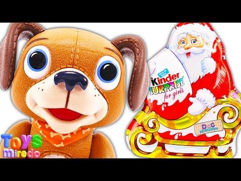 Kinder Surprise Egg Doc Mcstuffins Findo Christmas Surprise Eggs Toys Video For Children ToysMiredo