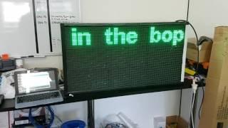 Provide Arduino code 64x16 dot Matrix LED for diy