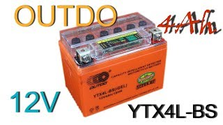 Круговой обзор: OUTDO (iGEL) Гелевый Аккумулятор YTX4L-BS 12V 4Ah