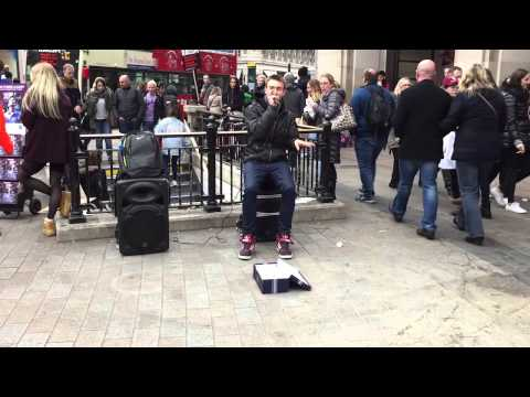 Beatboxing out front of Oxford Street Niketown - London, UK