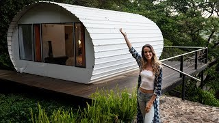 Eco Tiny House with UNBELIEVABLE View of Guatemala // tiny house tour