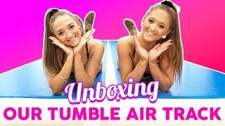 Unboxing Our Gymnastics Air Track (Plus Tumbling Fun)  | The Rybka Twins