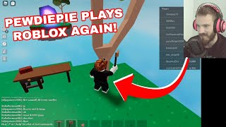 PEWDIEPIE PLAYS ROBLOX PIGGY & SKYBLOCK ON LIVE STREAM!