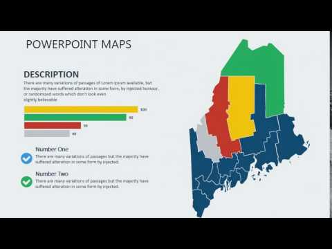 PowerPoint maps of Maine with Counties