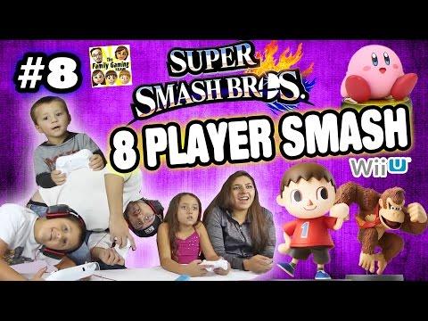 The FGTEEV 8-Player Smash Battle w/ Amiibo (Super Smash Bros Wii U Part 8 Face Cam Gameplay)