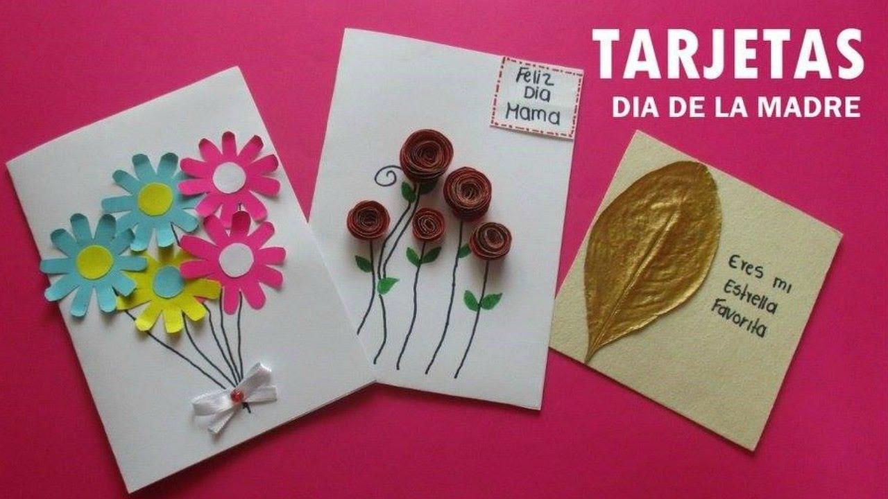 3 ideas de tarjetas para el d a de la madre f ciles y for Cosas artesanales para navidad