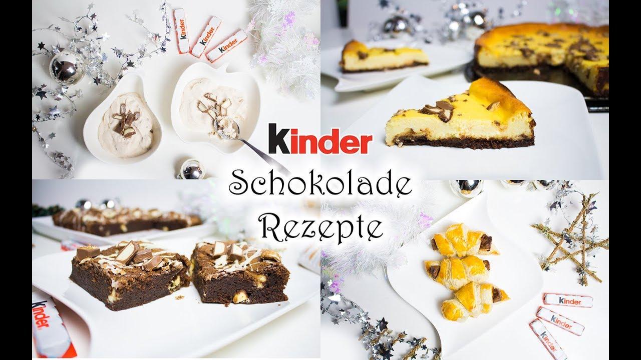 4 Rezepte Mit Kinder Schokolade Kasekuchen Hornchen Brownies Eis