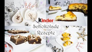 4 Rezepte mit kinder Schokolade: Käsekuchen, Hörnchen, Brownies, Eis