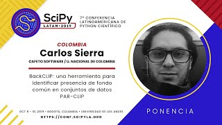 A tool to identify common background presence in PAR-CLIP datasets | SciPyLA 2019 | Carlos Sierra