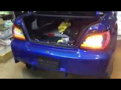 Subaru Wrx Custom >> Woooww Cool LED Subaru WRX Tail Lights - YouTube
