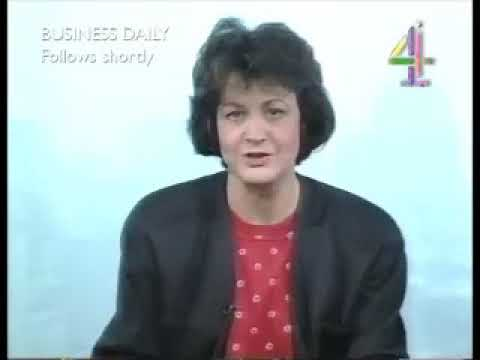 Channel 4 Lunchtime Interval Junction into Business Daily (16th October 1991)