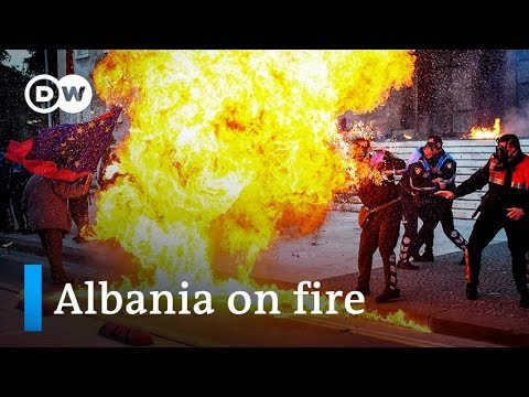Albania protest: Molotov cocktails lobbed at PM Rama's office | DW News