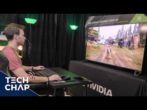 I want one! PC GAMING on a 65-inch 4K HDR 120hz G-Sync TV | The Tech Chap