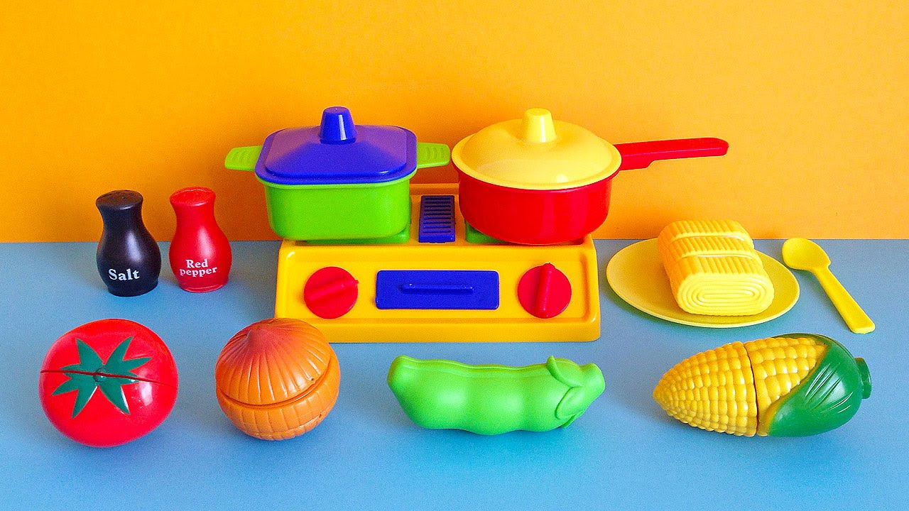 Soup Cooking Kitchen Playset Toy Cutting Vegetables C