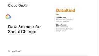Cloud OnAir: Data Science for Social Change