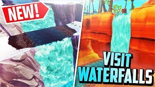 *NEW* Visit 7 Different Waterfalls! (Fortnite Overtime Challenge)