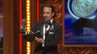 acceptance speech lin manuel miranda   best book of a musical 2016