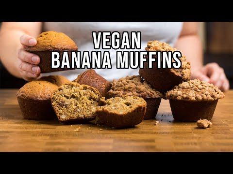 Easy Vegan Banana Muffins 3 Ways to Make