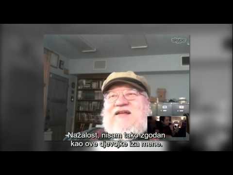 George R.R. Martin Skyping Croatian Fans