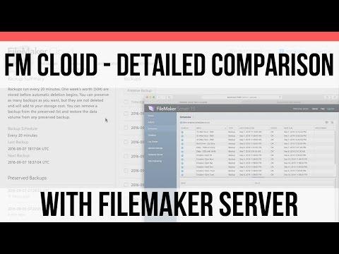 Detailed Comparison with FileMaker Server | FileMaker Cloud | FileMaker Pro 15 Training