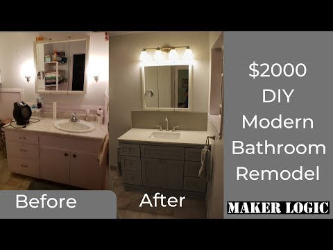 DIY Bathroom Remodel on a Budget – Start to Finish – six days in 20 minutes!!!
