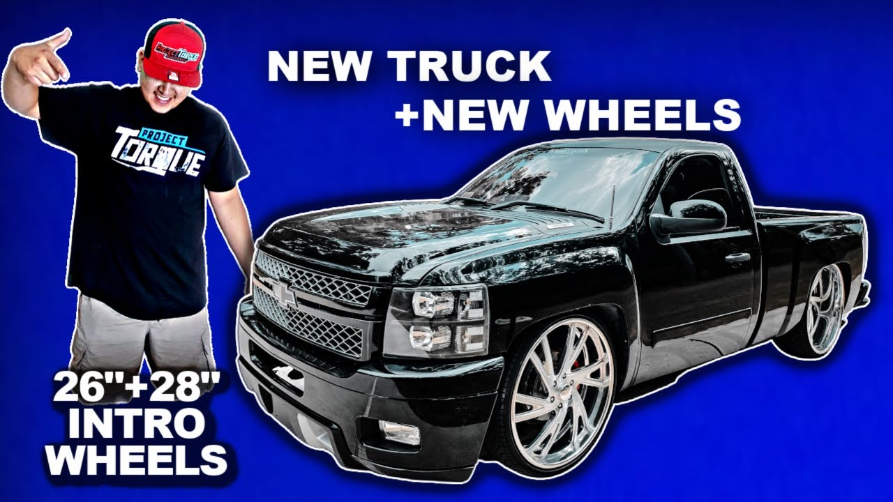 """NEW TRUCK RIDING ON 26+28"""" INTRO BILLET WHEELS"""