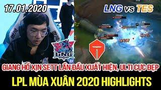 [LPL 2020] LNG vs TES Game 1 Highlights | Giang hồ xịn Sett lần đầu xuất hiện, ulti cực mạnh