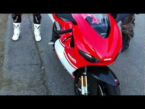 Ducati Desmosedici RR MotoGP Replica Sport Bike on Mulholland Highway