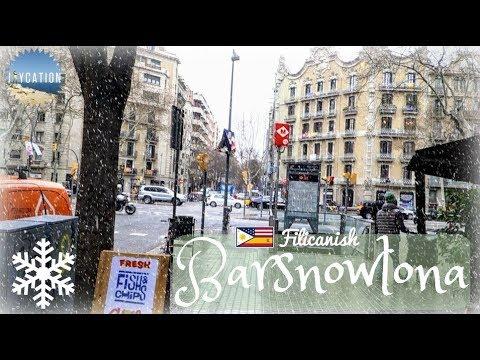 SNOW IN BARCELONA   Spain Travel Vlog