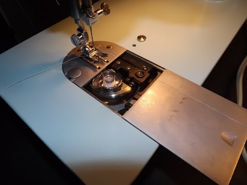 How to wind the bobbin, thread the needle & basic sewing on Singer Model 347