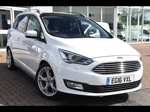 used ford grand c max 2 0 tdci titanium x 5dr frozen white. Black Bedroom Furniture Sets. Home Design Ideas