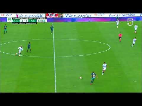 Gol de J. Dinenno   Pumas 4 - 1 Puebla   Liga MX - Guardianes 2020 - Jornada 8   LIGA BBVA MX