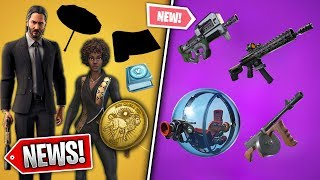 *NEW* John Wick Leaked Set, Free Umbrella & Wrap, P90 Vault, v9.01 Nerfs! New Update (Fortnite News)