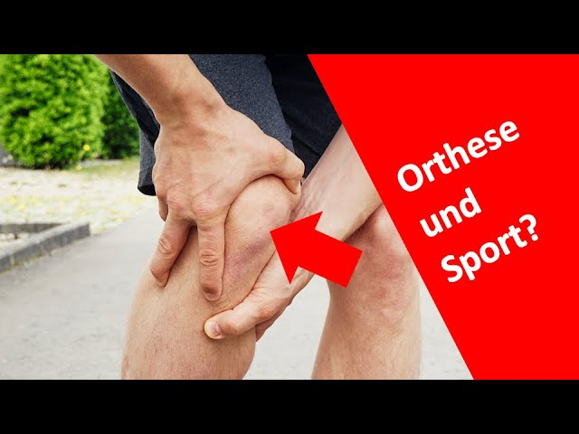 Ist Sport mit einer Knie-Orthese sinnvoll?