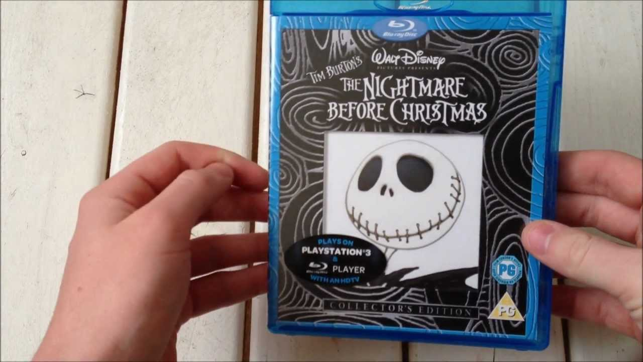 The Nightmare before Christmas Blu-Ray unboxing 1080p HD - YouTube